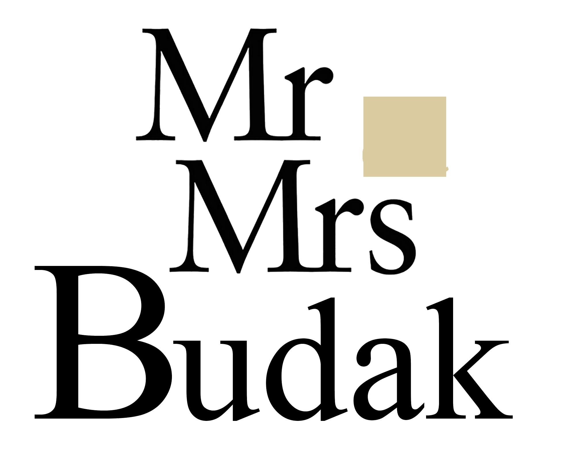 Mr. & Mrs. Budak Logo